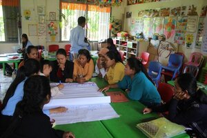 Group discuassion on their difficulty at VPS and write on the paper 01.jpg